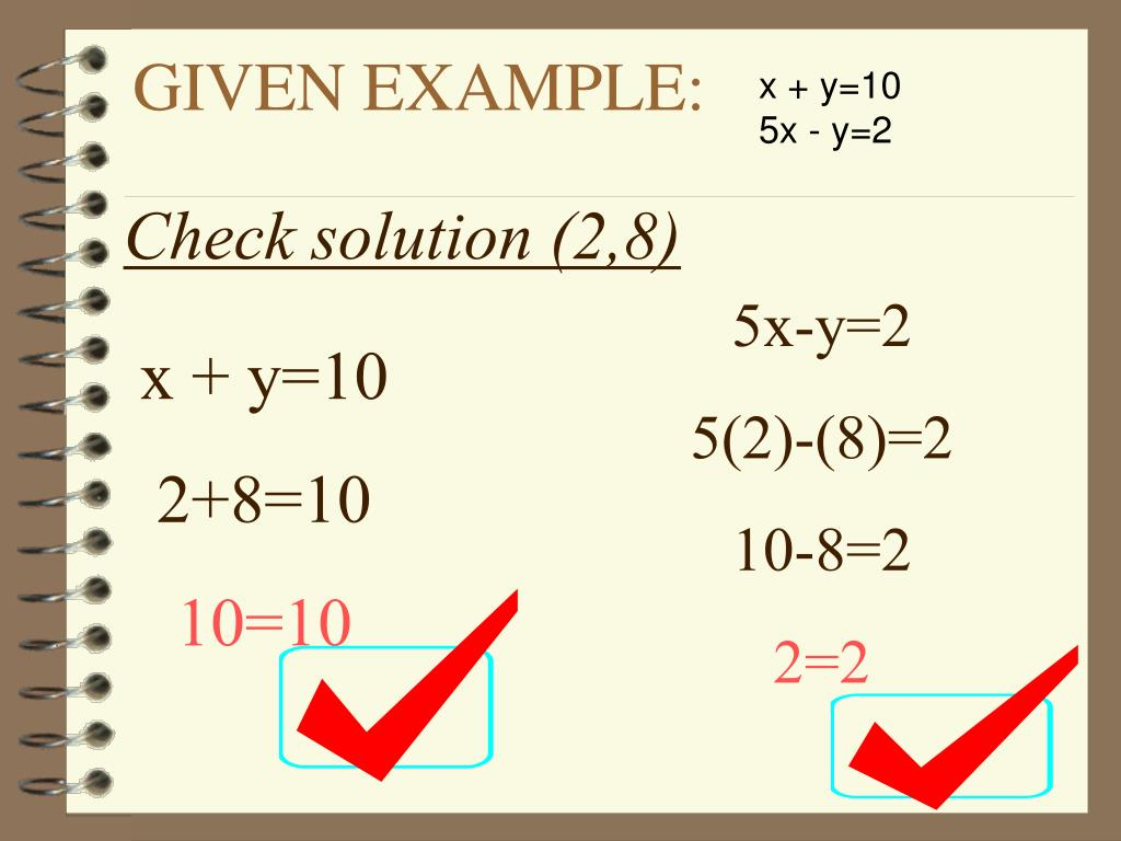 how to solve equations using substitution