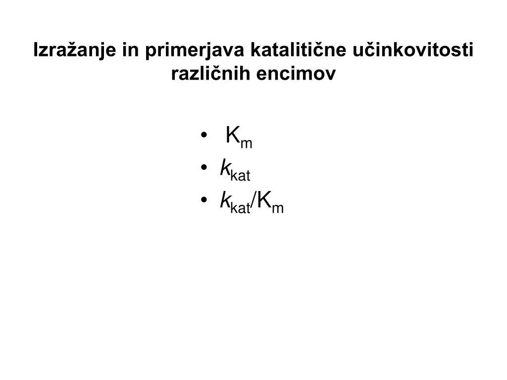 Izražanje in primerjava katalitične učinkovitosti različnih encimov