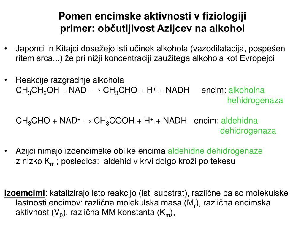 Pomen encimske aktivnosti v fiziologiji