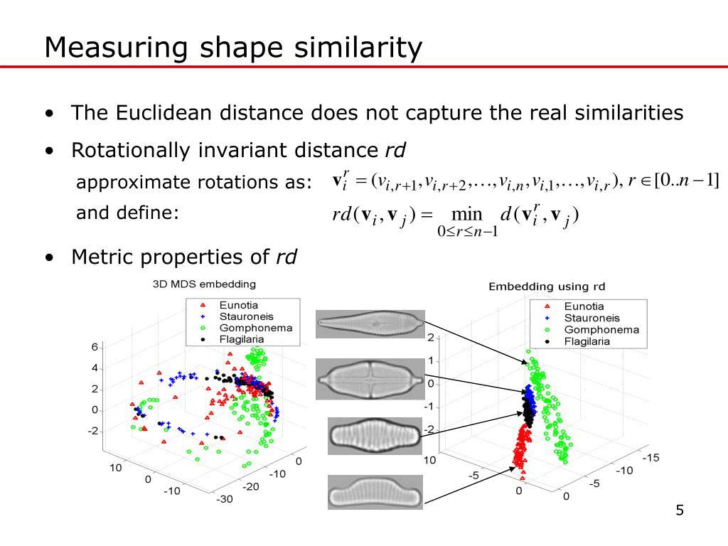 Measuring shape similarity