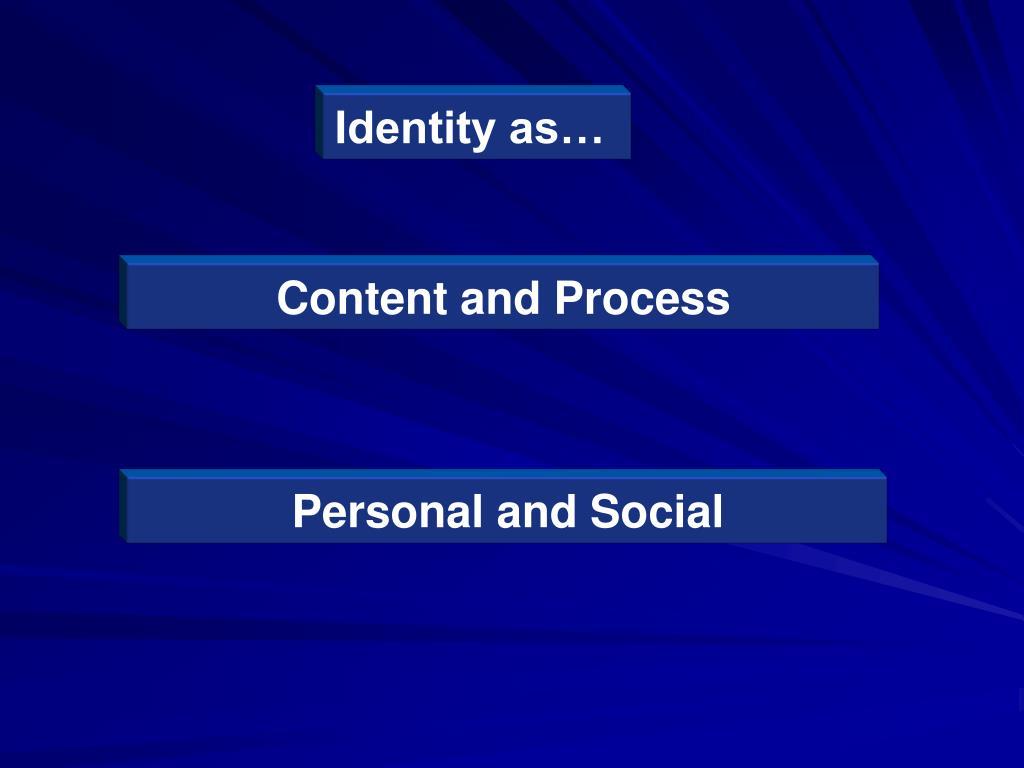 Identity as…