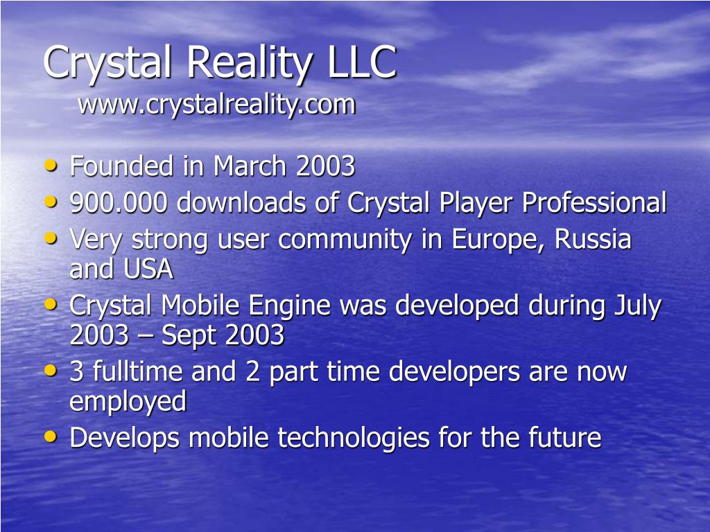 Crystal Reality LLC