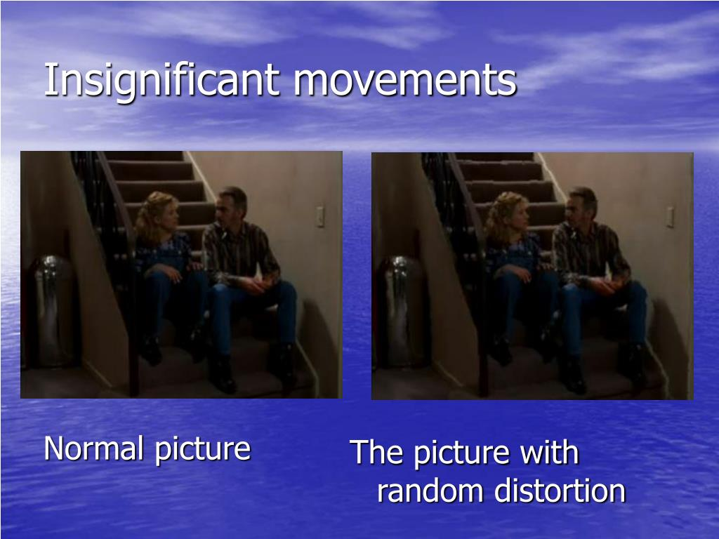 Insignificant movements