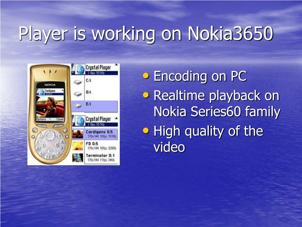 Player is working on Nokia3650