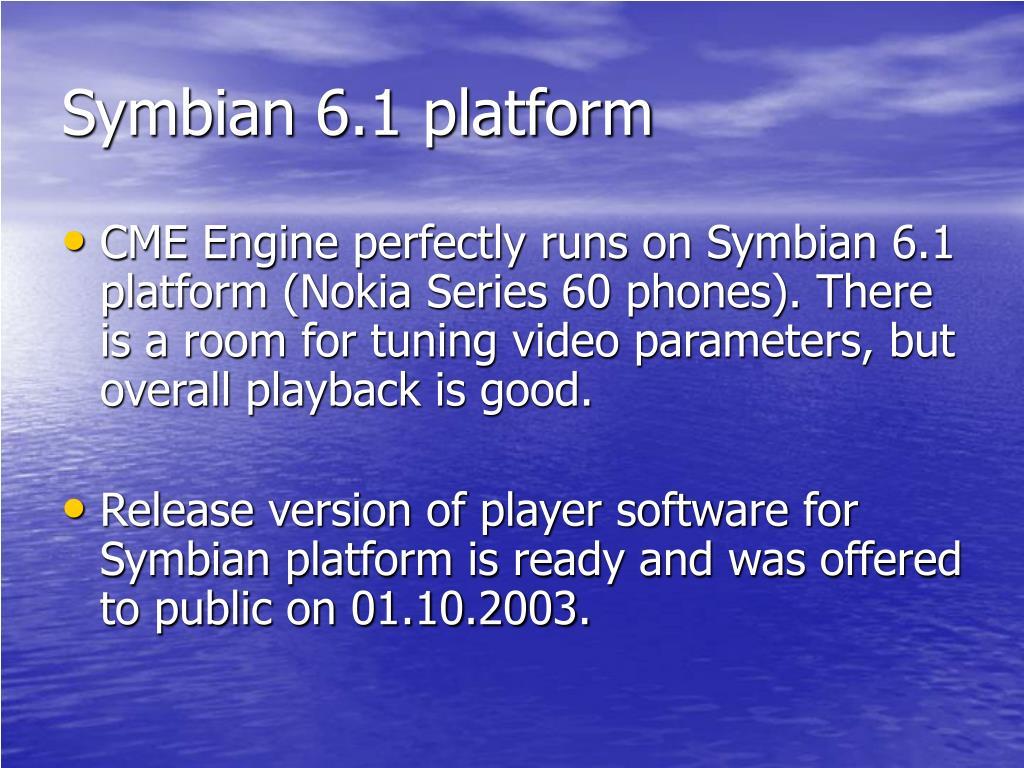 Symbian 6.1 platform
