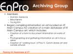 archiving group