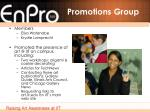 promotions group