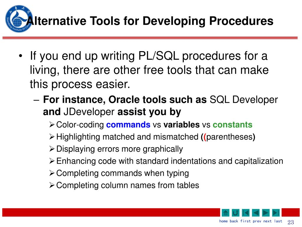 Alternative Tools for Developing Procedures