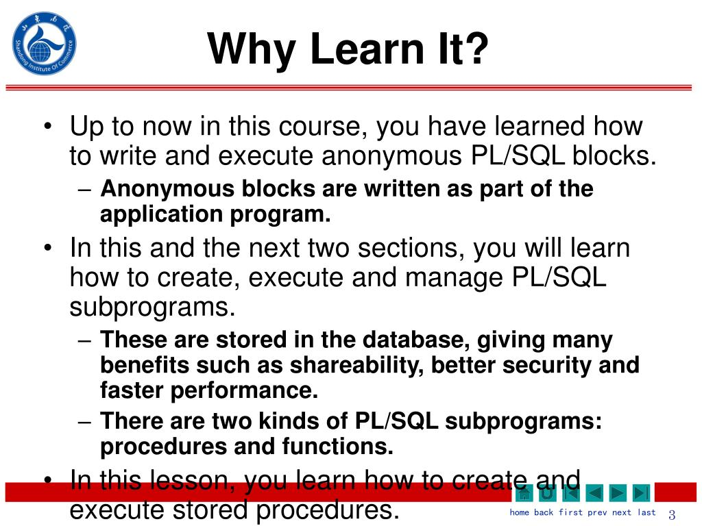 Why Learn It?