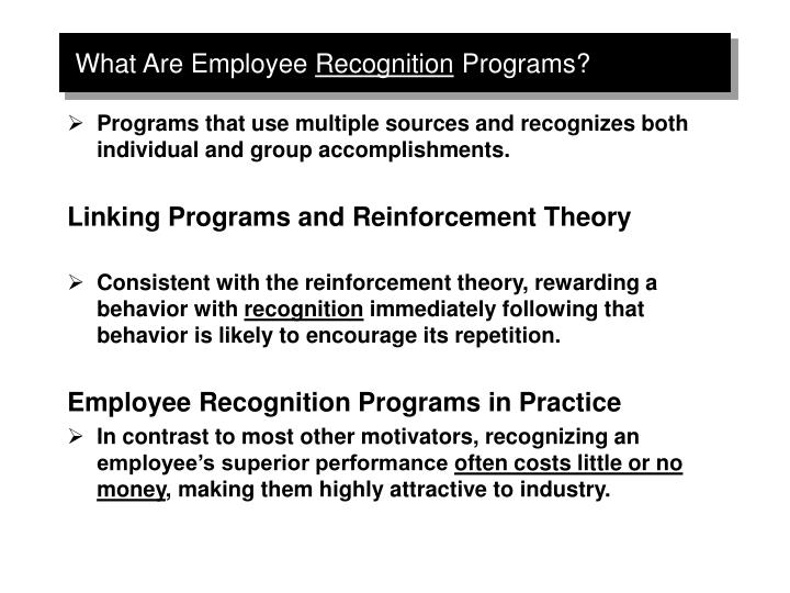 What are employee recognition programs
