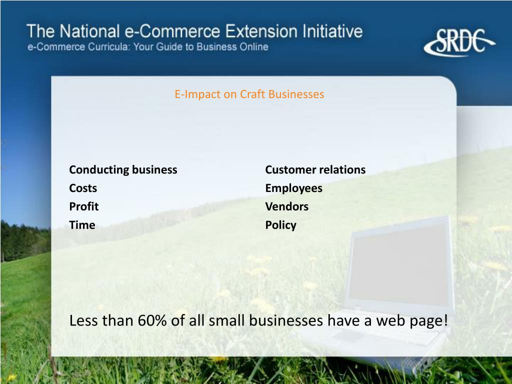 E-Impact on Craft Businesses