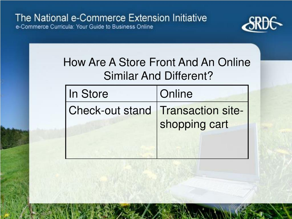How Are A Store Front And An Online