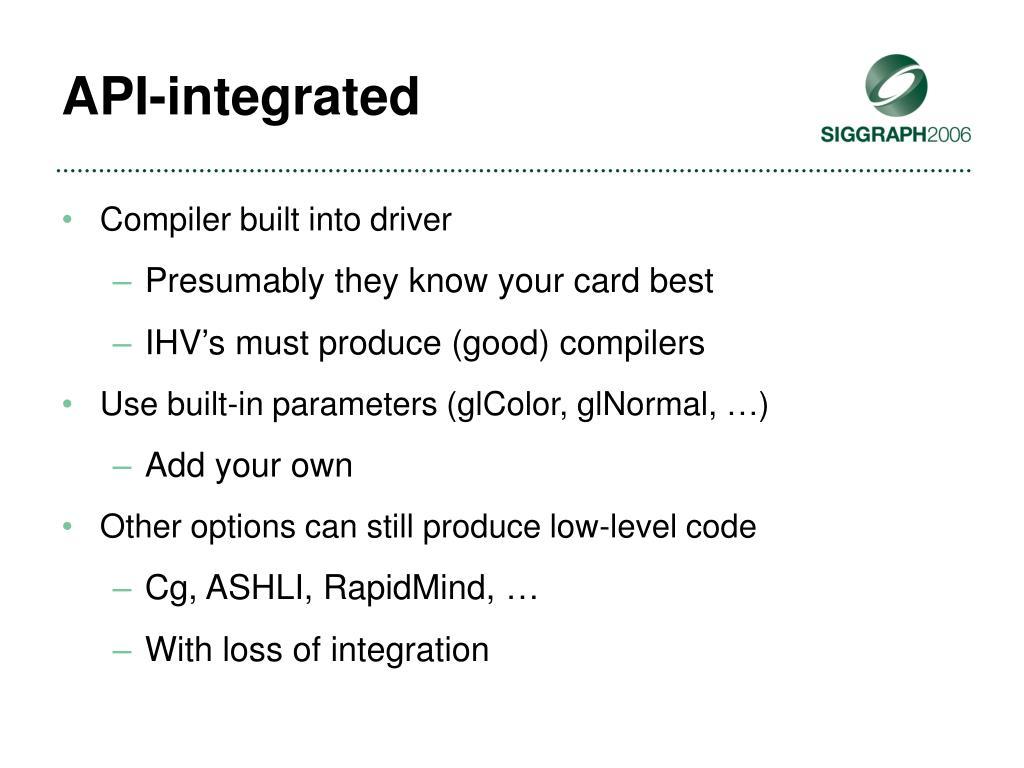 API-integrated