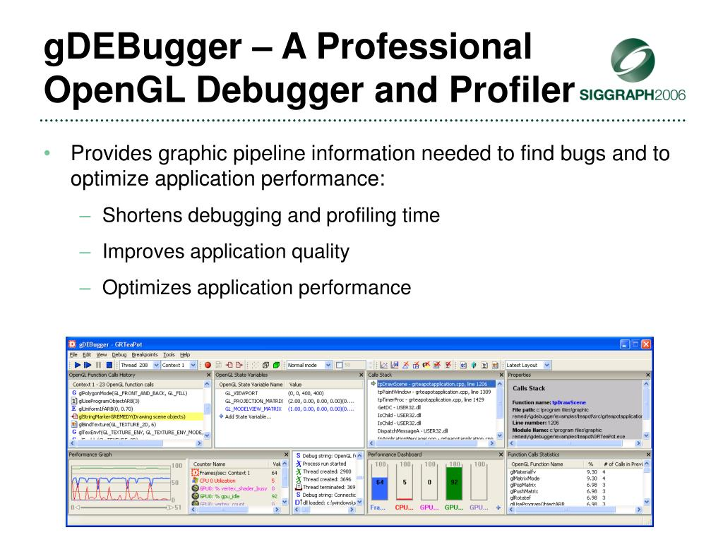 gDEBugger – A Professional