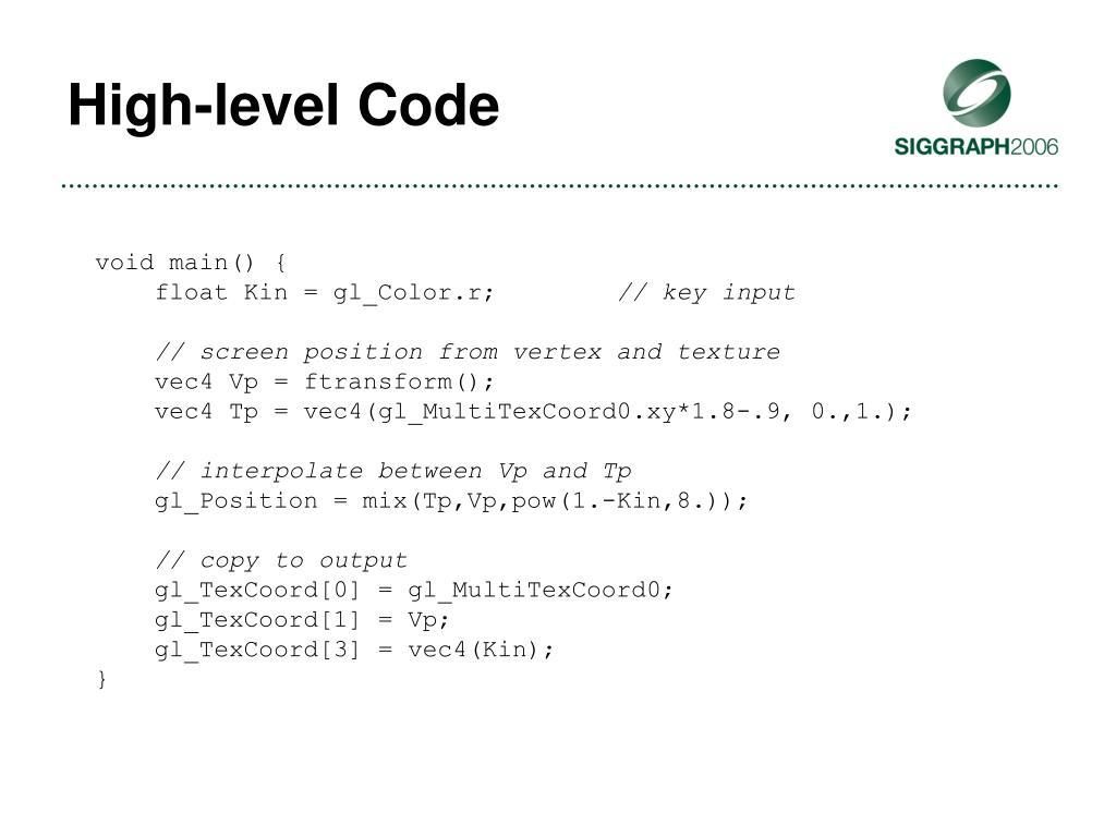 High-level Code