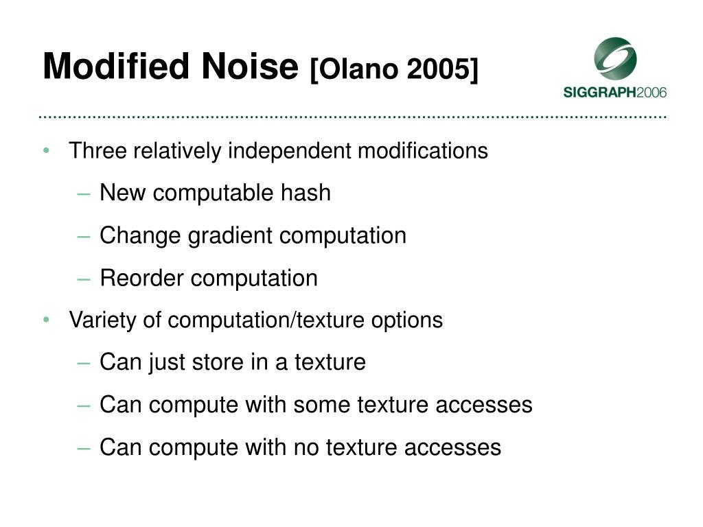 Modified Noise