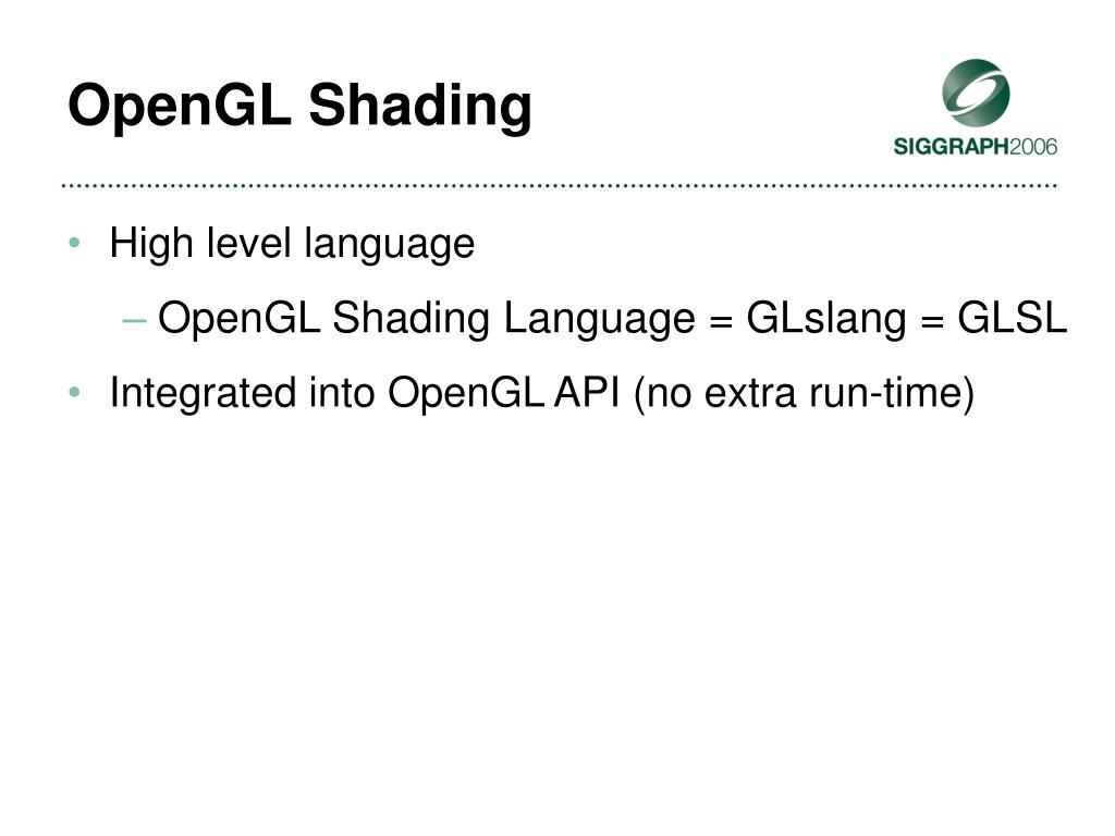 OpenGL Shading