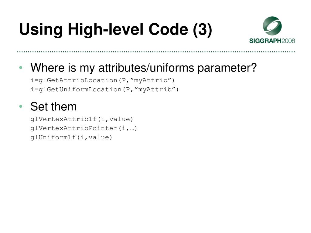 Using High-level Code (3)