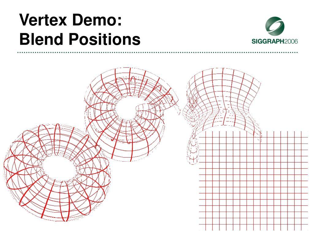 Vertex Demo: