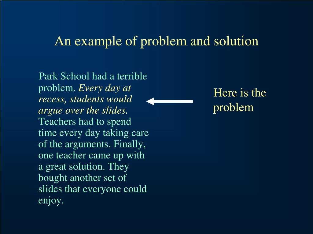 Park School had a terrible problem.