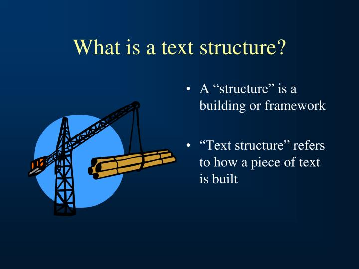 What is a text structure