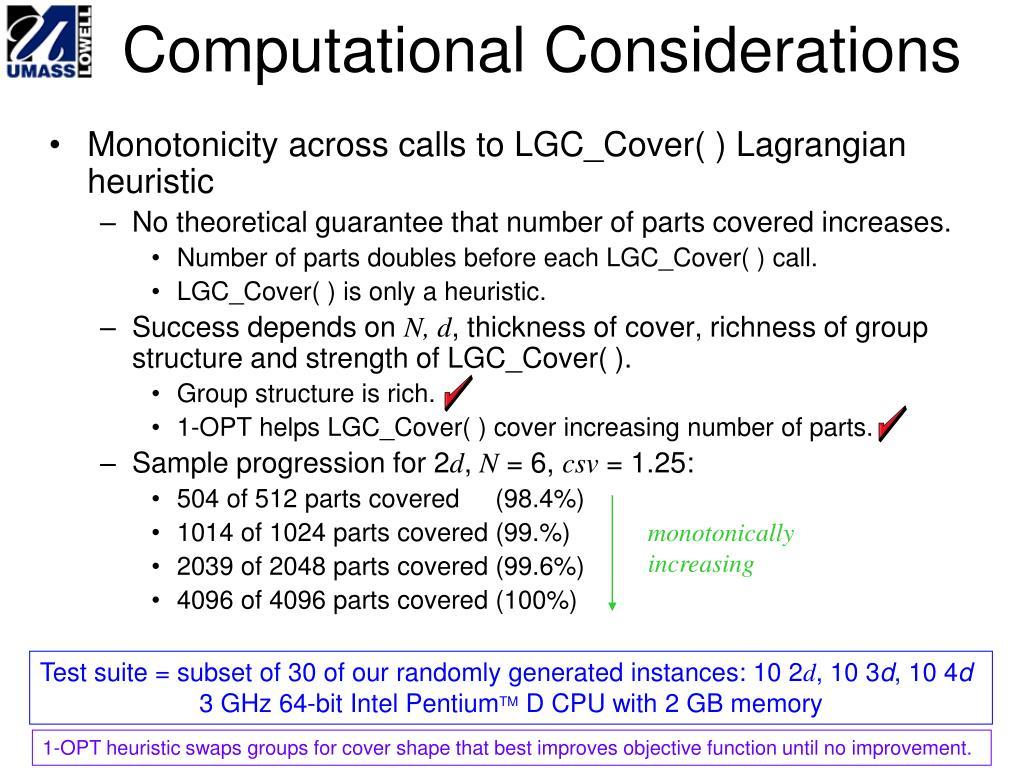Computational Considerations
