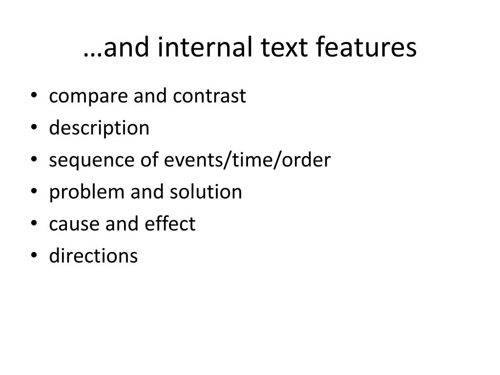 …and internal text features