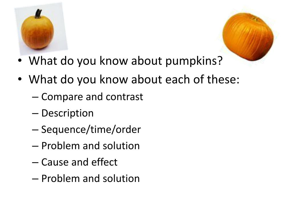 What do you know about pumpkins?