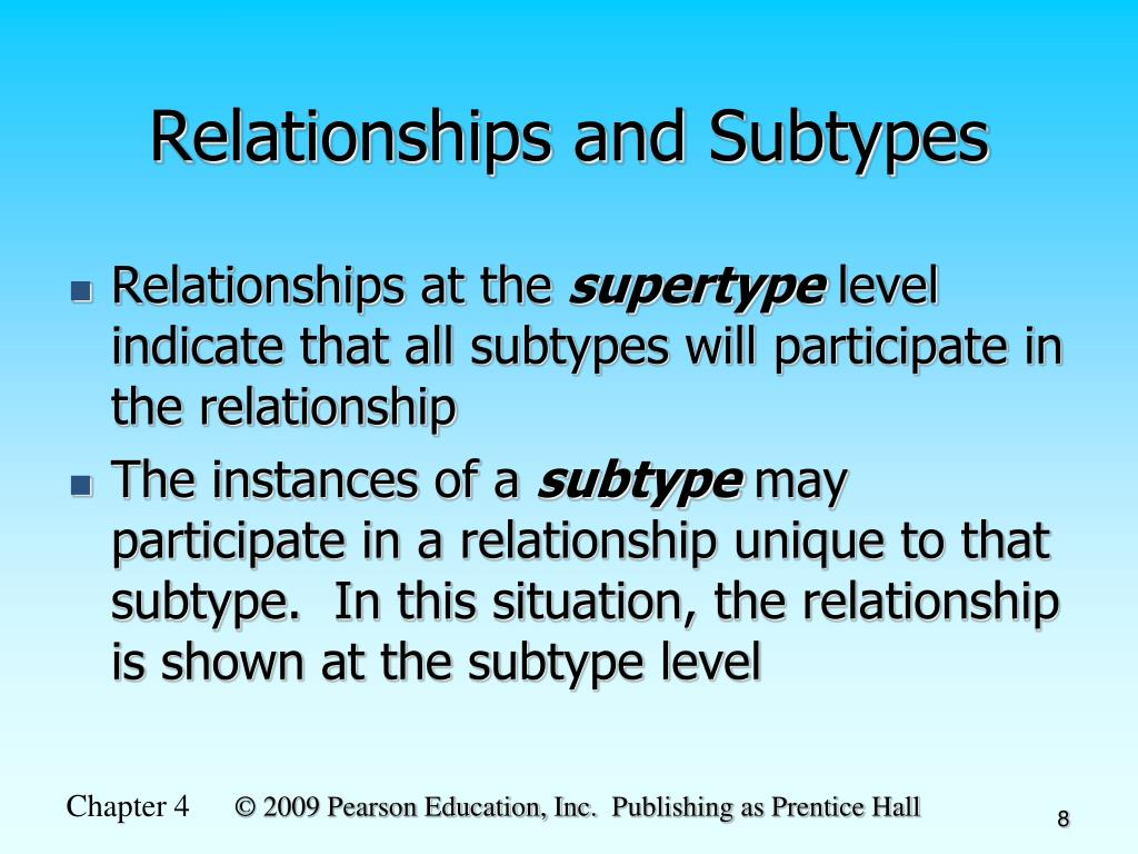 Relationships and Subtypes