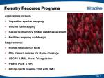forestry resource programs