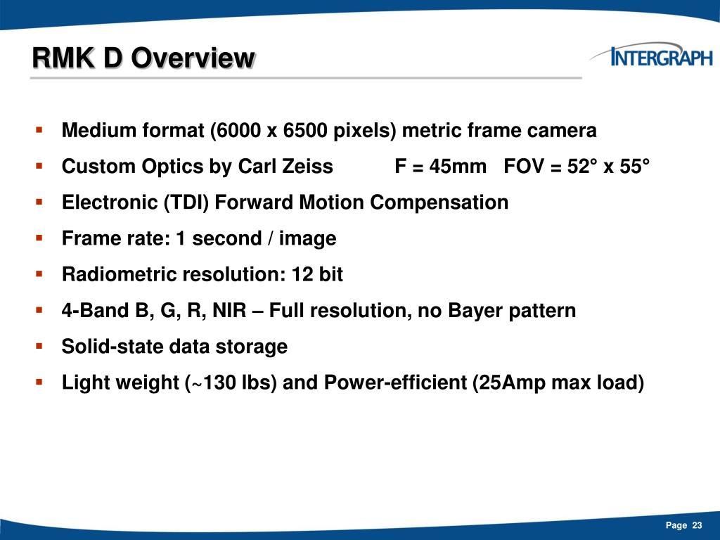 RMK D Overview