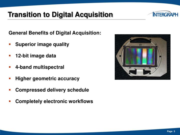 Transition to digital acquisition3
