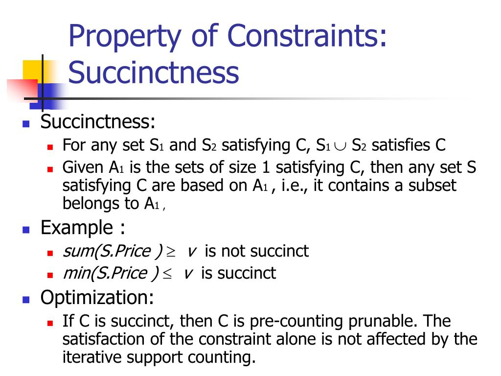 Property of Constraints: Succinctness