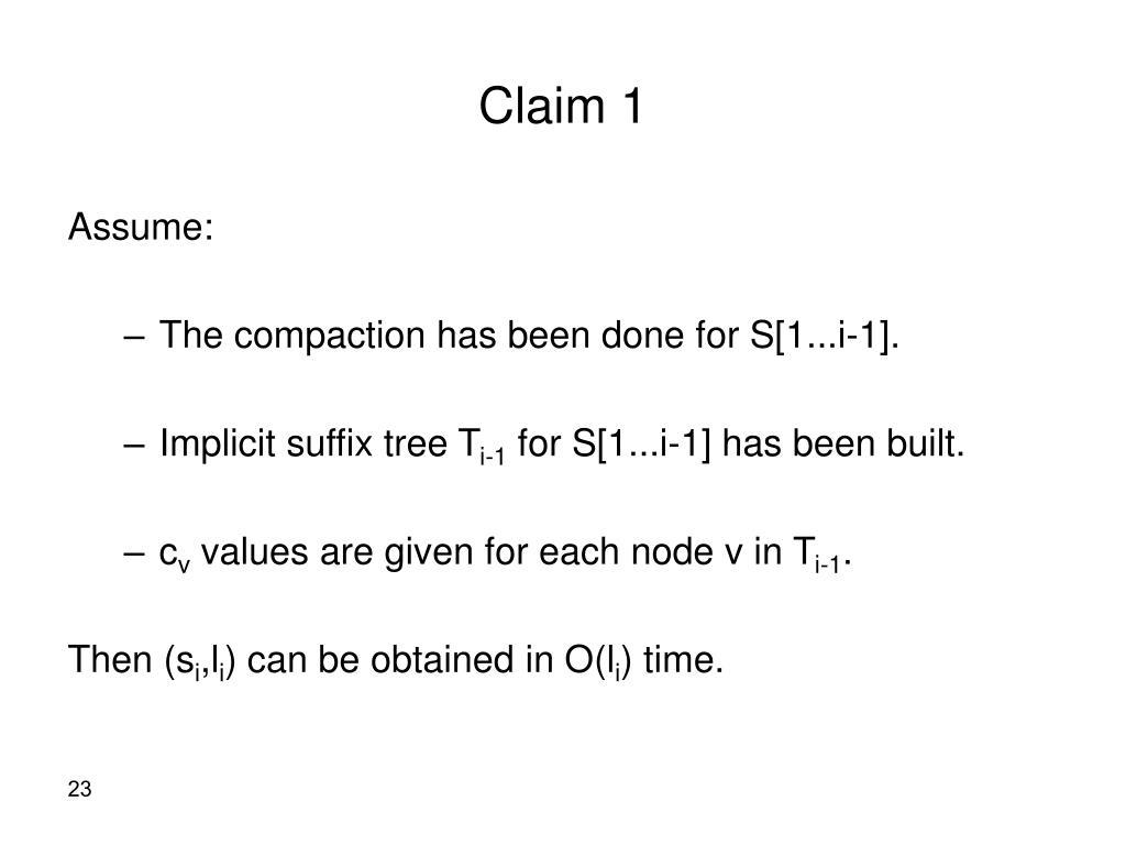 Claim 1