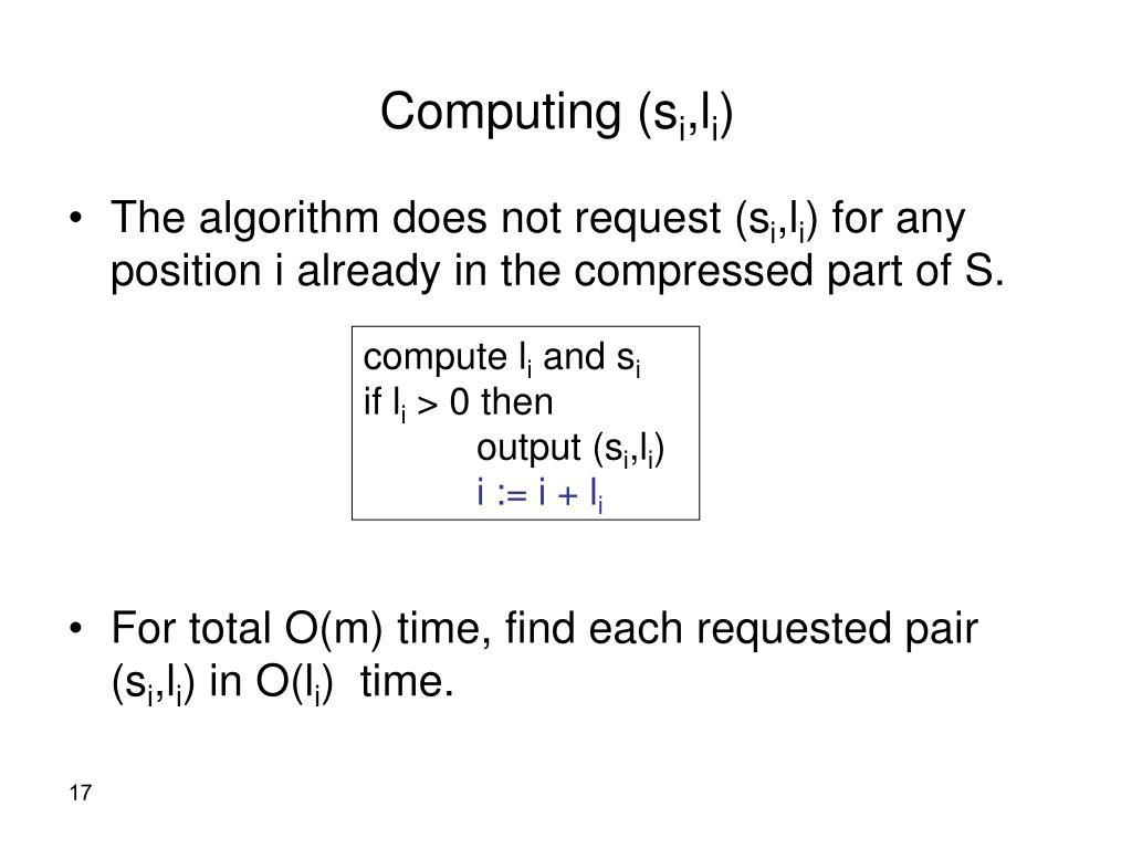 Computing (s
