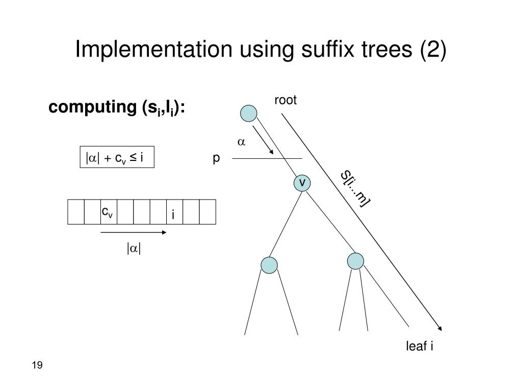 Implementation using suffix trees (2)