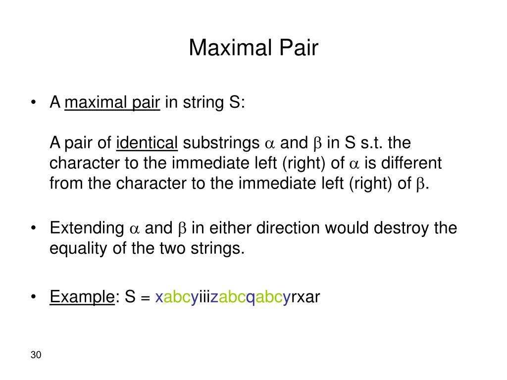 Maximal Pair
