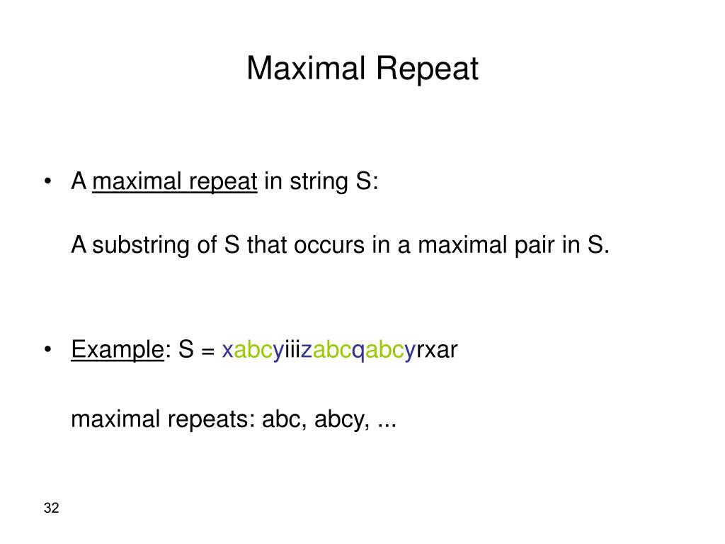 Maximal Repeat