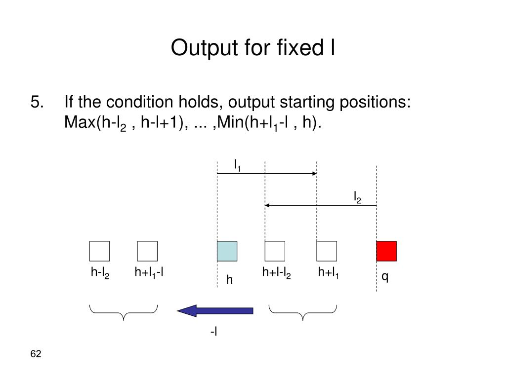 Output for fixed l