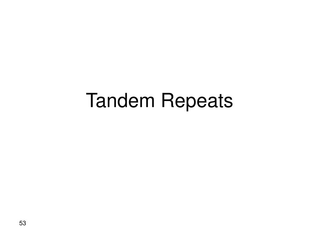 Tandem Repeats