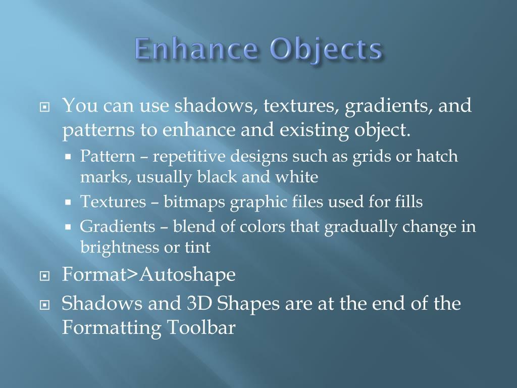 Enhance Objects