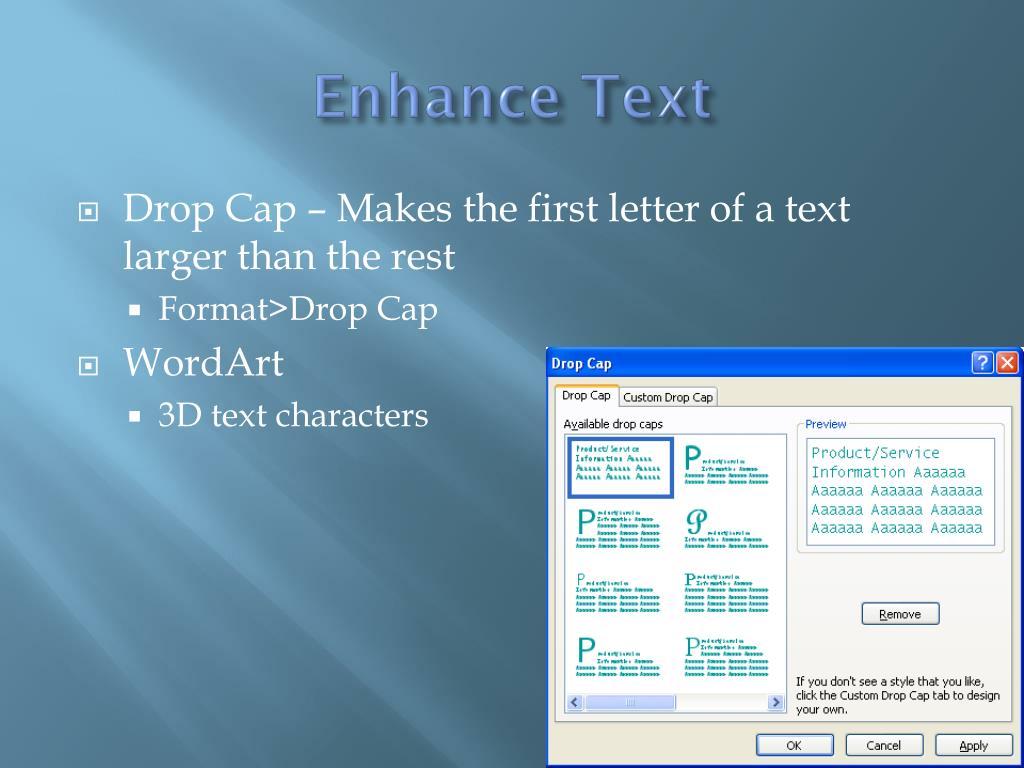 Enhance Text