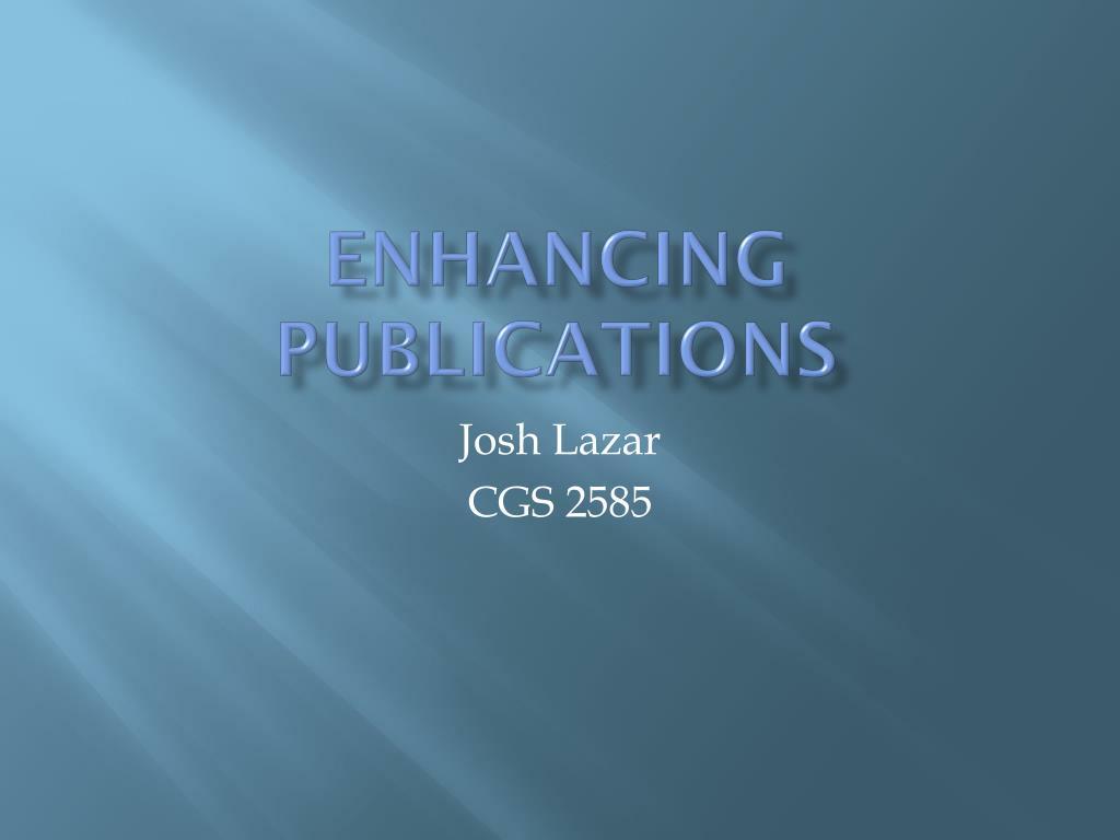 Enhancing Publications