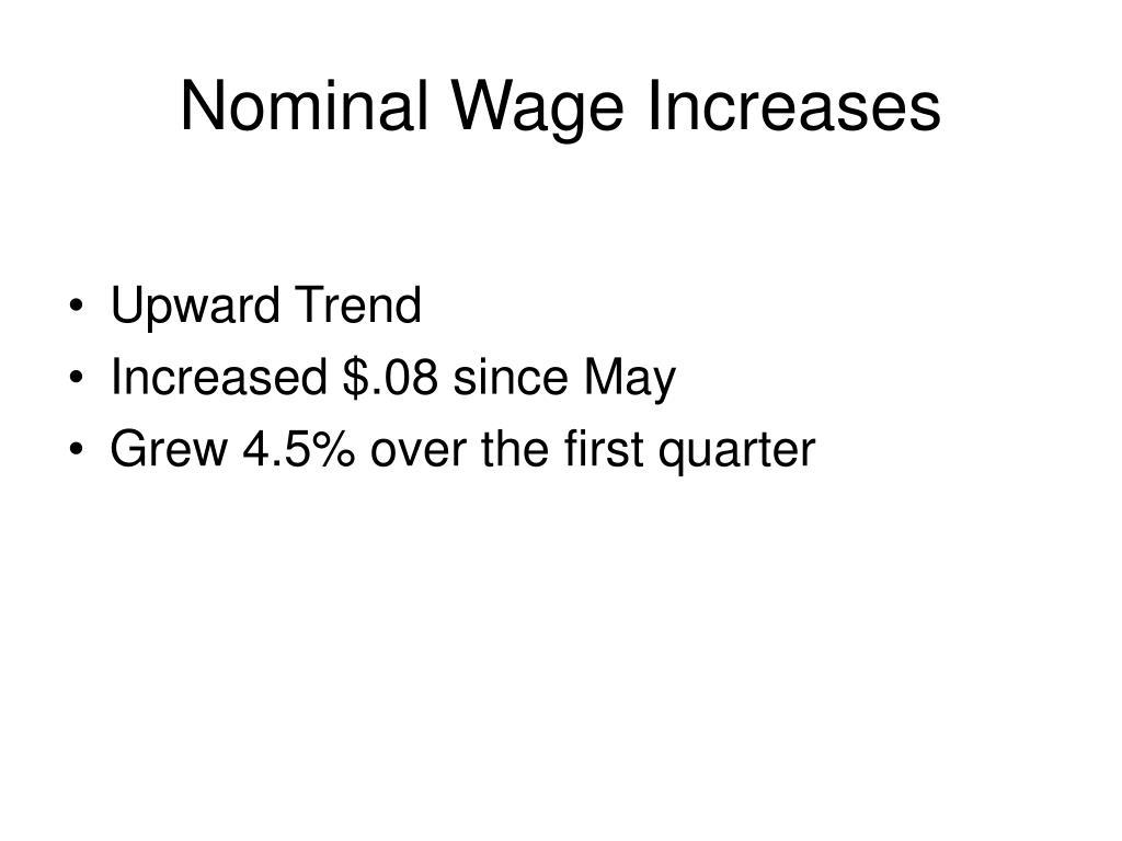 Nominal Wage Increases