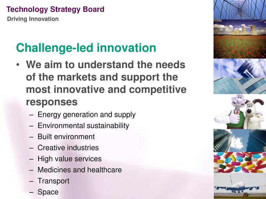Challenge-led innovation