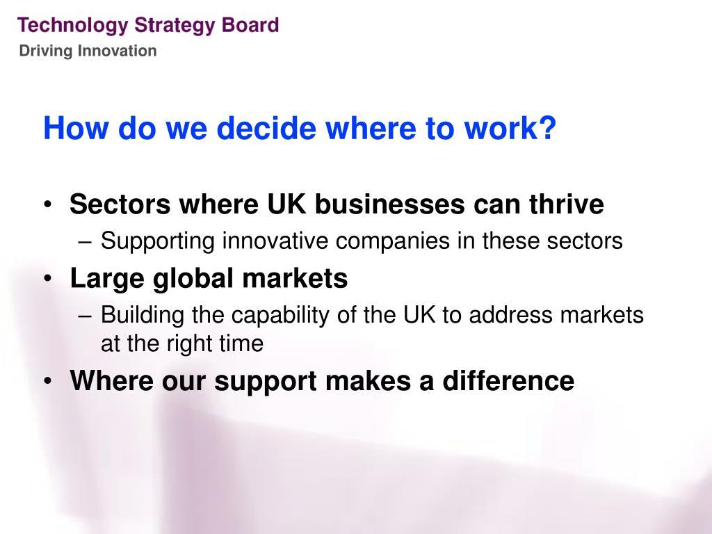 How do we decide where to work?