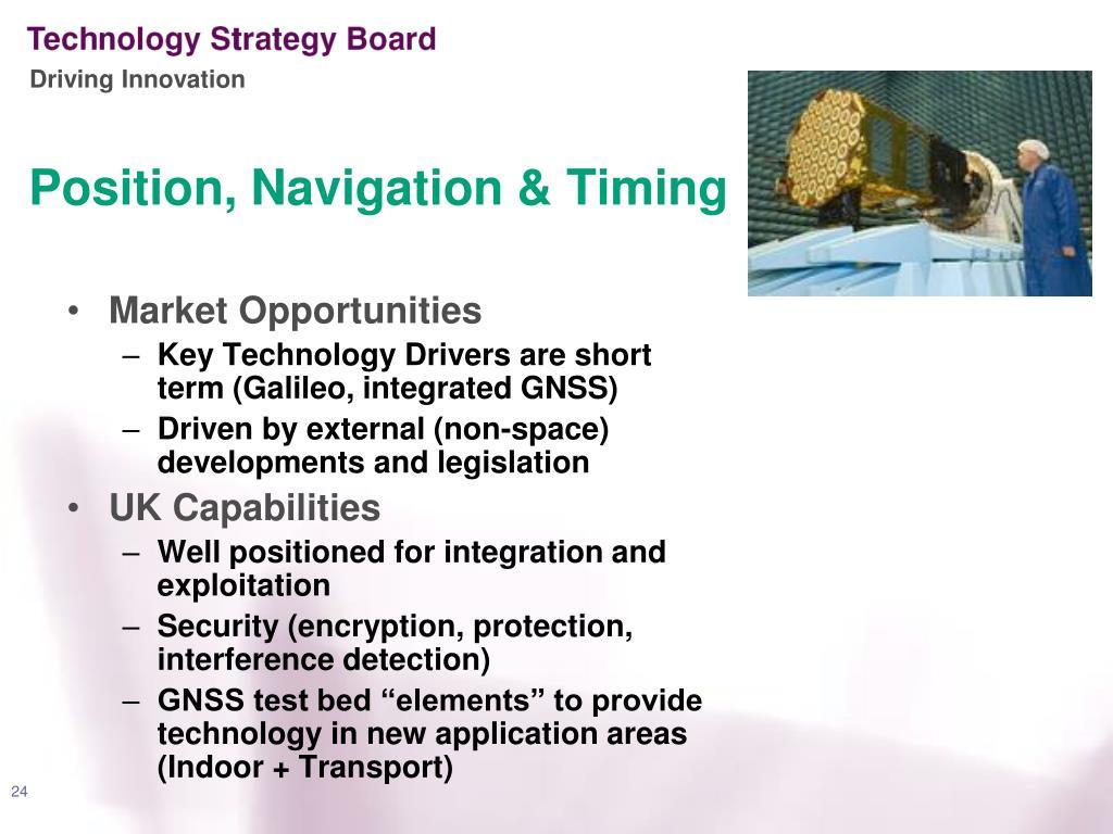 Position, Navigation & Timing