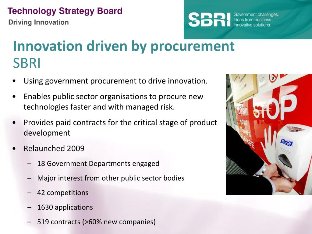 Using government procurement to drive innovation.