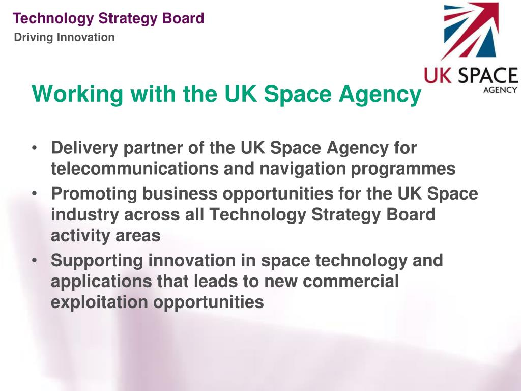Working with the UK Space Agency