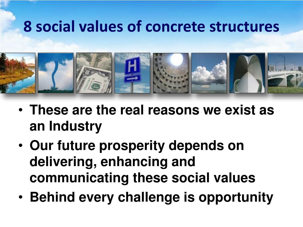 8 social values of concrete structures